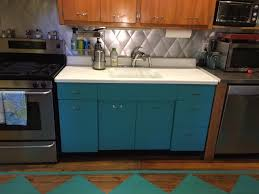 Kitchen Cabinets Redo Okay The Fridge Comes Too Mary Olive Design - Metal kitchen cabinets vintage