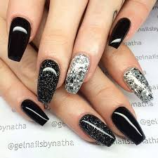 Black Manicure Designs Nail Designs Black And Silver Graham