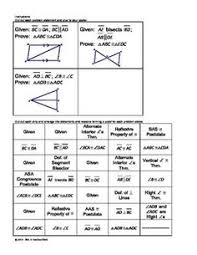 Cpctc Worksheet Answers Congruent Triangles And Cpctc Proofs Cut And Paste Activity