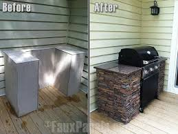 faux stone u0026 counter space for outdoor grilling this would be an