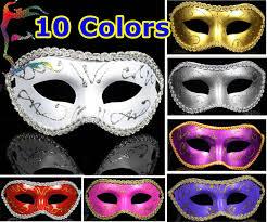 wholesale half gold powder flower around party masks 10colors