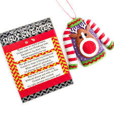the legend of the ugly sweater christmas ornament the ugly