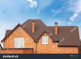 Brick House by New Brick House Modular Chimney Stone Stock Photo 452442187