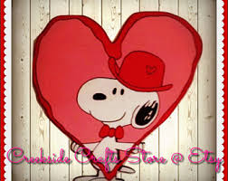 snoopy valentines day snoopy holding heart etsy