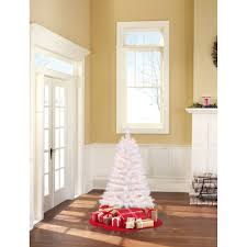holiday time pre lit 4 u0027 indiana spruce white artificial christmas