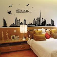 wall decals city color the walls of your house wall decals city 1pcs new removable wall sticker city silhouette buildings art decals