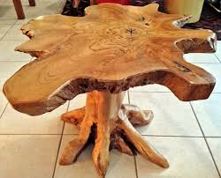 teak root dining table base side table with natural live edges made from reclaimed old teak root