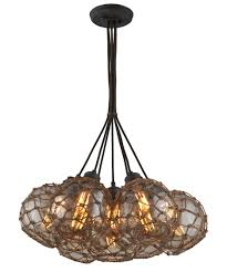 Multi Pendant Lighting Fixtures Troy Lighting F4755 Outter Banks 24 Inch Wide 7 Light Multi
