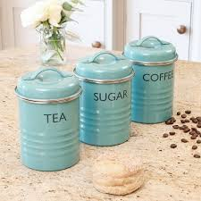 blue kitchen canisters tea coffee sugar pots kitchen blue metal typhoon rayware enamel