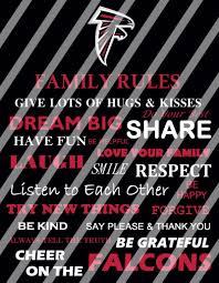 Atlanta Falcons Home Decor by Atlanta Falcons Family Rules Wall Decor Sign Instant Download