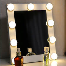 Beauty Vanity With Lights Lighted Makeup Mirrors Ebay