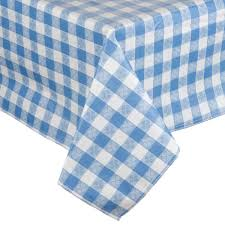 flannel backed vinyl table pad x 72 blue checkered vinyl table cover with flannel back