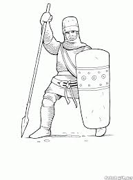coloring page armored knight