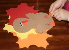 foam turkey craft leaf turkey craft all kids network