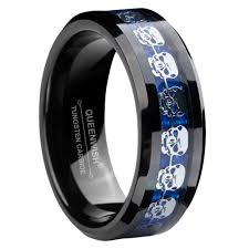 black and blue wedding rings queenwish 8mm infinity black blue tungsten carbide wedding ring