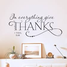thanksgiving decals bible thanksgiving quote wall sticker removable vinyl words