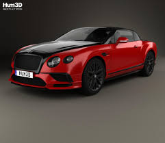 bentley gt3r custom bentley continental gt supersports convertible 2017 3d model hum3d