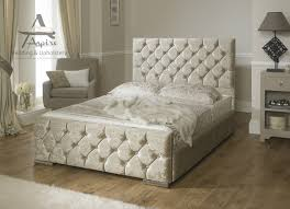 Super King Ottoman Storage Beds by Monoco Velvet Fabric Upholstered Storage Bed Frame 4 U00276 Double 5