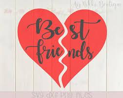 friendship heart best friends heart etsy
