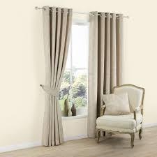 Eyelet Curtains Carina Ecru U0026 Seine Plain Woven Eyelet Lined Curtains W 167 Cm L