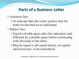 letter with attention line and subject line written communications ppt video online download