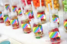 Gummy Bear Decorations Rainbow Care Bear 5th Birthday Party Shes Kinda Crafty