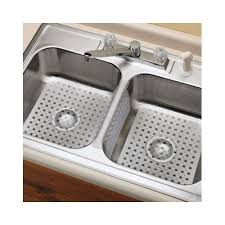 Kitchen Sink Rubber Mats Kitchen Sink Mats And Saddle Divider Mat Protects Dishes Clear