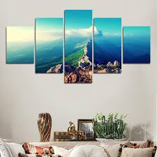 2017 sell modern wall painting new york sky blue landscape