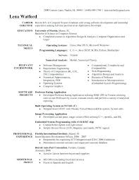 sample resume for software engineer experienced software developer