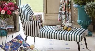 canape tissu rayures cabanon tissu ameublement imprimé rayures bicolores pour fauteuil