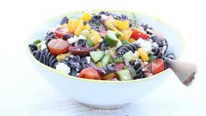 greek black bean pasta salad clean u0026 delicious with dani spies