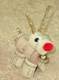 reindeer ornaments cork reindeer
