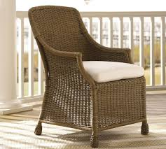All Weather Wicker Saybrook All Weather Wicker Dining Armchair Pottery Barn Au