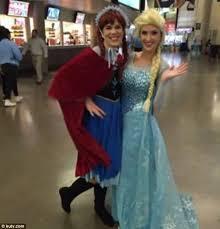 friends dressed anna elsa kicked frozen ice