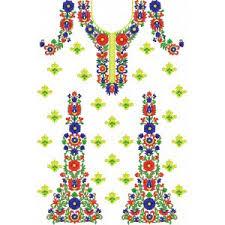 machine embroidery u2013 classic dress front u2013 needle work