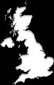 England On Map Blind Map Of United Kingdom