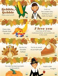 thanksgiving lunchbox notes thanksgiving and note