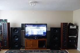 home theater shack forum my huge center channel under construction from raw acoustics 50