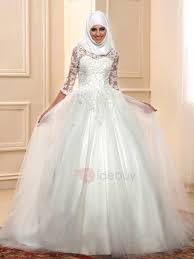 islamic wedding dresses islam lace gown muslim wedding dress with sleeves tidebuy