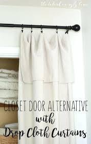 Curtains Closet Doors Closet Curtains For Closet Doors Closet Door Ideas Curtain Image
