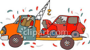 wrecked car clipart truck with wrecked car on flatbed royalty free clipart picture