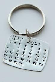 calendrier mariage valentines calendrier keychain argenté calendrier porte clés