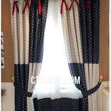 Blackout Navy Curtains Blackout Navy Curtains Polka Dot Blue White Modern