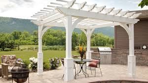 vinyl u0026 wooden pergolas amish built pergola md nj