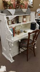 shabby chic writing desk vintage piano repurposed into a gorgeous desk the shabby white