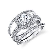 engagement rings that look real wedding rings 14k white gold cubic zirconia engagement rings cz