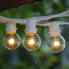 100 ft white commercial c9 string light with led g40 premium warm