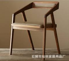 Cafe Chairs Wooden Lai Ikea High Grade Iron Wood Dining Chair Solid Wood Dining