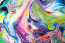 art and science smash up milk swirls paintings u2014 water earth