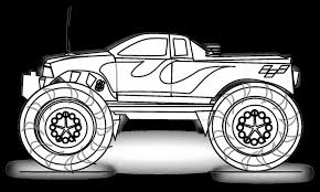 superb printable monster truck coloring pages with monster truck